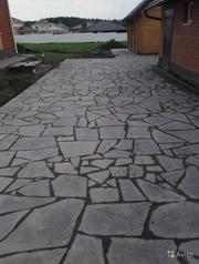 Укладка тротуарной плитки,  брусчатки и природного камня